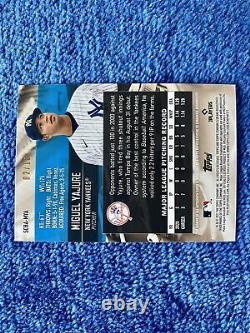 2021 Topps Stadium Club Miguel Yajure Rainbow Foil Auto /10 New York Yankees RC