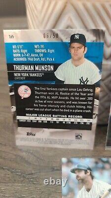 2021 Topps Stadium Club Thurman Munson New York Yankees RARE BLUE #06/50 read
