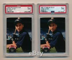 (2) 1993 Stadium Club Murphy #117 Derek Jeter New York Yankees PSA 9 RC Lot