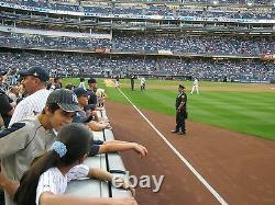 2 Front Row Field Level Section 109 New York Yankees Tickets v Boston 8/17/21