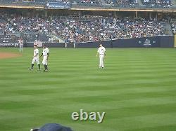 2 Front Row Field Level Section 109 New York Yankees Tickets v Boston 8/18/21