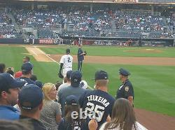 2 Front Row Field Level Section 109 New York Yankees Tickets v CLEVE 9/19/21