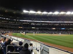 2 Second Row Field Level Sec. 110 New York Yankees Tickets v Angels 7/1/21