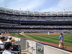 2 Second Row Field Level Sec. 110 New York Yankees Tickets v Baltimore 8/12/19