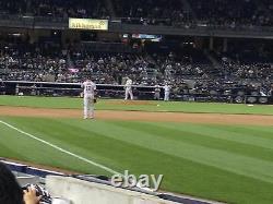 2 Second Row Field Level Sec. 110 New York Yankees Tickets v Houston 5/5/21