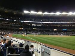 2 Second Row Field Level Section 110 New York Yankees Tickets v CLEVE 9/18/21