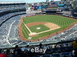 2 Tickets Yankees Astros ALCS Home Game 3 Series Game 5 FRI Oct 18 Sec 419
