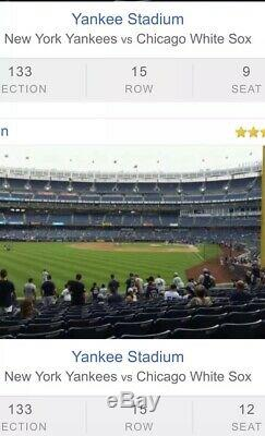 4 3rd Row Field Level Section 133 New York Yankees Tickets v. Balt. 8/12/19 105