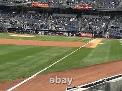 4 Front Row Field Level Section 130 New York Yankees Tickets v BALT. 4/6/21