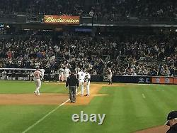 4 Front Row Field Level Section 130 New York Yankees Tickets v MINN 8/22/21