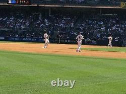 4 Front Row Field Level Section 130 New York Yankees Tickets v Red Sox 7/16/21