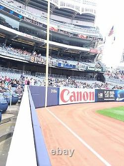 4 Front Row Field Level Section 130 New York Yankees Tickets v Texas 9/21/21