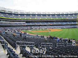 4 NY Yankees vs Clev Indians 9/17/21 CAMO CAP NIGHT Field Level Sec 109