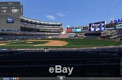 4 Yankees vs Indians FIELD LEVEL tickets for Sunday, August 18th for HALF PRICE