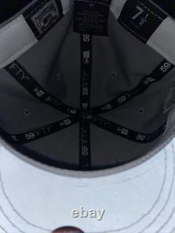 7 1/2 new york yankees grey canvas yankee stadium 3M bottom fitted hat