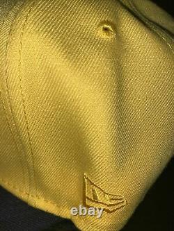 7 1/2 new york yankees yellowithblack yankee stadium red velvet bottom fitted hat