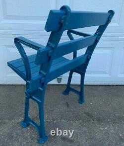 AUTHENTIC 1923 NEW YORK YANKEE STADIUM SEAT CHAIR WithBRASS PLAQUE RUTH MANTLE