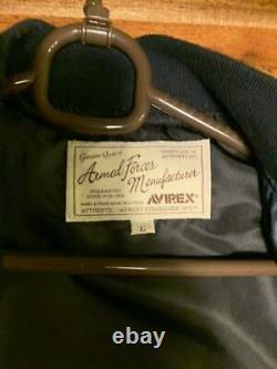 AVIREX Stadium Jacket Back NEW YORK Logo Yankees Size L Men's Pre-owned