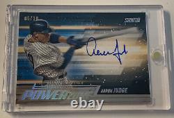 Aaron Judge 2018 Stadium Club Power Zone Gold 10 Auto Pz-aj New York Yankees