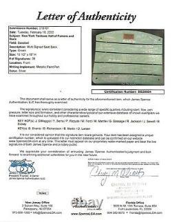 Autographed New York Yankee Stadium Wooden Seat Back JSA Cert. DiMaggio Mantle