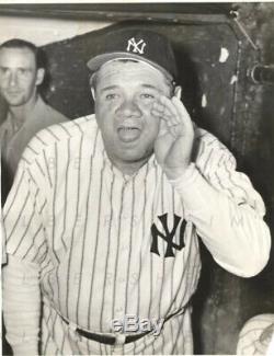 Babe Ruth Original 1943 TYPE I photo in New York Yankees Uniform Yankee Stadium