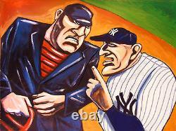 CASEY STENGEL PRINT poster baseball new york yankees stadium world series umpire