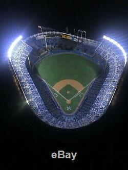 Danbury Mint Deluxe Night Game At New York Yankee Stadium Lit Lighted Replica