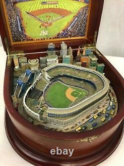 Danbury Mint New York Yankees Stadium Replica Music Box Baseball MLB