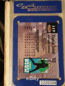 Derek Jeter Csa 9 1993 Stadium Club Murphy #117 New York Yankees Mint Hof