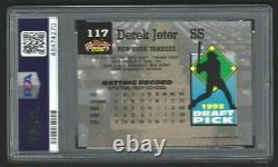 Derek Jeter, New York Yankees 1993 Stadium Club #117 Psa Gem Mint 10