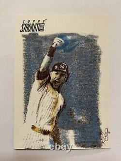 Derek Jeter New York Yankees 2008 Topps Stadium Club 1/1 Sketch Card