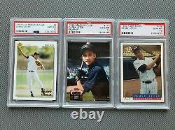 Derek Jeter New York Yankees PSA 10 1992 1993 Rookie Lot Stadium Club U. D. Fleer