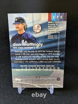 Don Mattingly 2020 Topps Stadium Club Chrome Red Refractor #4/5 New York Yankees
