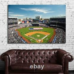 EB001 Yankees Stadium Baseball New York Sports Athlete Poster and Canvas