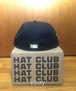 Exclusive Hat Club New York YANKEES 7 3/8 Stadium Patch Navy Icy Light Blue UV