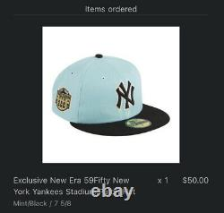 Exclusive New Era 59Fifty New York Yankees Stadium Patch Hat HAT CLUB Size 7