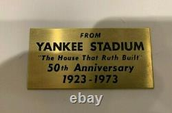 Free Shipping! Authentic Rare 1973 Yankee Stadium Bleacher Seat New York Yankees