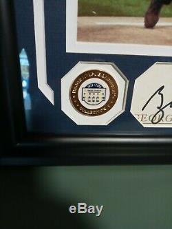 George W. Bush signed framed cut Beckett LOA 9/11 New York Yankees MLB stadium