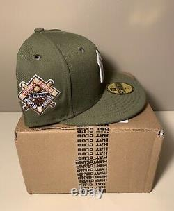 Hat Club Exclusive New York Yankees Olive 1941 WS Stadium patch 7 1/8 Hat