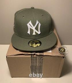 Hat Club Exclusive New York Yankees Olive 1941 WS Stadium patch 7 3/8 Hat