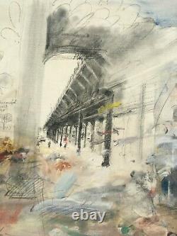 Ivan Schwebel Painting Israeli Jewish Bronx New York Jerusalem Yankee Stadium