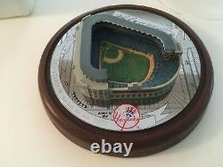 Joe DiMaggio New York Yankees Signed Hawthorne Cooperstown Yankee Dome Stadium