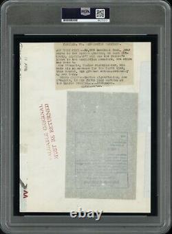 Joe Dimaggio 1938 New York Yankees Yankee Stadium Type 1 Original Photo PSA/DNA