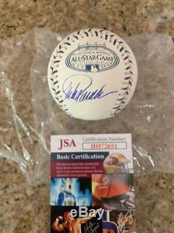 Jorge Posada New York Yankees Stadium Asg Rare Legend Jsa Signed Baseball Coa
