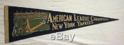 Late 1930's New York Yankees American League / World Champs Pennant with Stadium