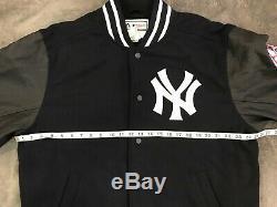 Majestic New York Yankees On Field Stadium Varsity Jacket Size XL MLB
