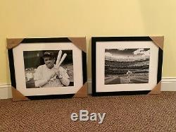 Mariano Rivera & Babe Ruth 24x18 FRAMED MATTED PHOTOS NEW YORK YANKEES STADIUM