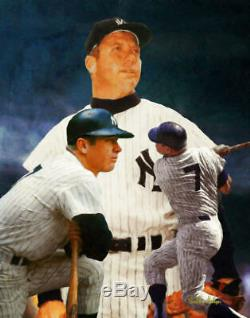 Mickey Mantle NY Yankees New York MLB Baseball Stadium Art 02 8x10 48x36
