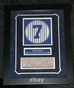 Mickey Mantle New York Yankees Stadium Brick Framed Monument Park Steiner Mlb