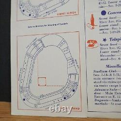 Mid Century MLB New York Yankees 1950s Yankee Stadium Guide Mickey Mantle